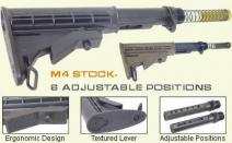 AR15 M4 6 POSITION CARBINE STOCK (BLACK)