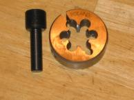 14 x 1 LH Thread Die and Alignment Tool