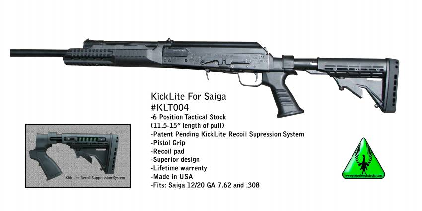 Saiga Tactical Stock: Kick Lite 6